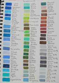 Colored Pencil Color Charts Archive Wetcanvas