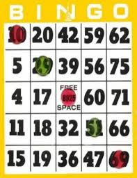 Image result for bingo board clipart