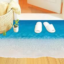 Kids Bathroom Flooring Aliexpresscom Buy Creative Sea Beach Floor Stickers Diy 3d