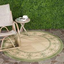 courtyard natural olive 7 ft x 7 ft indoor outdoor round area