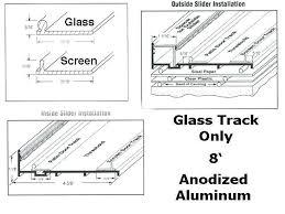 sliding glass tracks cabinet modern sliding glass