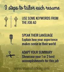 3 steps to tailor your resume