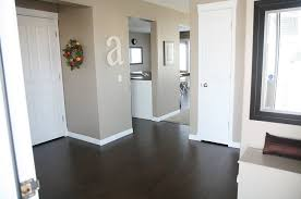 Dark Wood Floors In Kitchen Wall Color Ideas With Dark Wood Floors And White Kitchen Cabinets