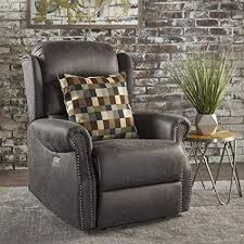 Image Glow Desiree Tufted Navy Blue Fabric Power Recliner slate Amazoncom Amazoncom Desiree Tufted Navy Blue Fabric Power Recliner slate