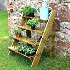 outdoor plant shelves outdoor plant rack outdoor plant shelving wooden garden plant ladder by grange outdoor