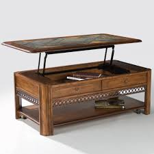 madison wood lift top rectangular cocktail table in autumn brown
