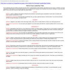 leadership traits essay format lab report paper writers marine corps leadership traits
