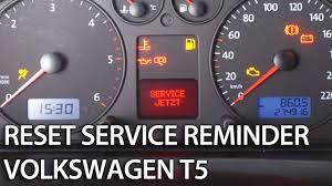 2014 Vw Transporter Inspection Light Reset Vw T5 Reset Service Inspection Reminder Mr Fix Info