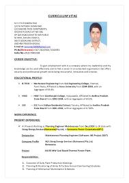 Power Plant Mechanical Engineer Resumes Ramu Resume