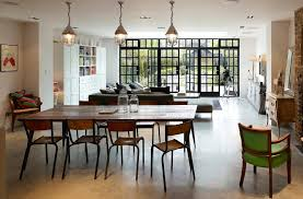 industrial style dining room lighting. industrial style dining room traditional with french doors shelf hutches lighting