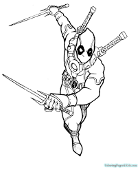Deadpool Coloring Pages Free Printable Coloring Pages