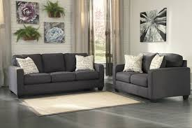 Alenya Charcoal Living Room Sofa & Loveseat Set by Ashley