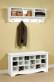 Coat And Shoe Racks Delectable Entryway Hall Tree With Storage Bench Home Office Coat Shoe Rack