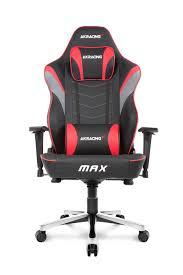 gaming chair. AKRacing Max Big Gaming Chair Red A