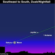 Moon Goes By Saturn Night Of July 15 Tonight Earthsky