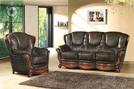 High End Leather Sofa Quality Living Room Furniture  Antique   N22