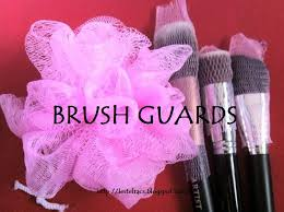 diy brush guards made from shower ball
