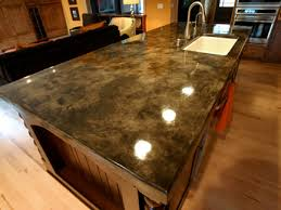 concrete countertop stamping and staining options