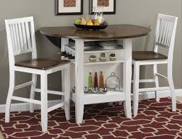 Round Drop Work Full Sets Dining Height Counter Alluring Set Spaces