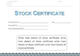 Free Certificate Templates For Word Share Certificate Template Share And Stock Certificate Template