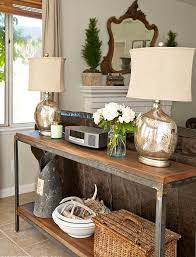 sofa table behind couch against wall. How To Decorate Sofa Table Most Inspiring Design Sturdy Shabby Chic Wrought Iron Base Legs Combined Walnut Lacquered Fiberboard Top Lower Shelf Feature Behind Couch Against Wall