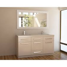 48 double sink vanity. design element moscony white 60-inch double sink vanity set 48 i