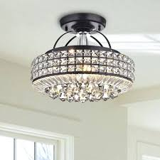 antique black chandelier plus antique black drum shade crystal semi flush mount chandelier antique black crystal