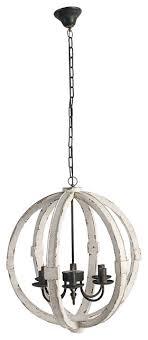 wood metal globe chandelier 22 5 cream
