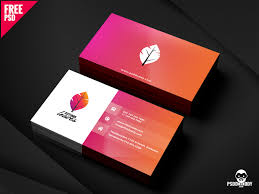 Professional Business Card Psd Free Download By Mohammed Asif