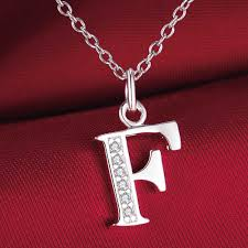 F P Lexile Conversion Chart Us 1 26 25 Off Fashion Letter F Silver Plated Necklace New Sale Silver Necklaces Pendants Hgxmchmq Yqkjvnie In Chain Necklaces From Jewelry