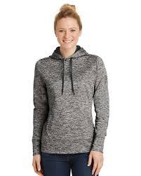 Sport Tek Lst225 Ladies Posicharge Electric Heather Fleece Hooded Pullover
