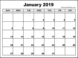 Printable Free Monthly Calendars Free Printable Calendar January 2019 Printable Blank Monthly