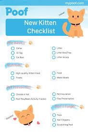 New Kitten Checklist Kittenchecklist Kittens Tips Tricks
