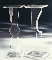 Acrylic Pedestal Display Stands Awesome Acrylic Pedestal Stand At 100stdibs In Table Modern Foxy 93
