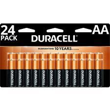 Duracell Battery Sizes Chart Duracell 1 5v Coppertop Alkaline Aa Batteries 24 Pack