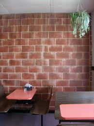 ... Fascinating Image Of Painting Faux Bricks For Home Interior Wall  Decoration : Killer Picture Of Dining ...
