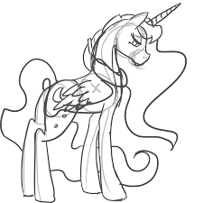 Small Picture Princess Luna And Nightmare Moon Coloring Coloring Pages