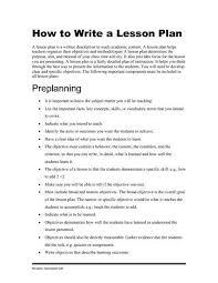Writing Objectives For Lesson Planswritings And Papers | Writings ...