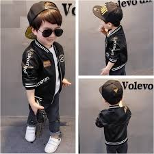 aliexpress 2017 autumn baby boys pu leather regarding toddler biker jacket with regard to