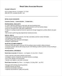Cashier Sales Associate Resume Sales Associate Resume Template 8 Free Word Pdf Document