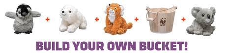 Plush Animals Build Your Own Bucket Of Plush From World Wildlife Fund