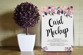 free fl wedding card mockup psd
