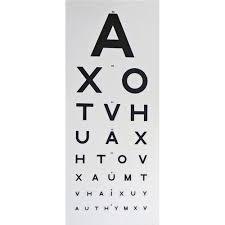 6m Snellen Vision Chart
