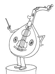 Instruments De Musique 180 Objets Coloriages Imprimer