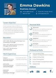 Free Basic Analyst Resume Cv Template In Photoshop Psd