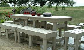 Panca Per Sala Da Pranzo : Insieme elegante patio esterno riciclato plastica tavolo e panche