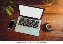 laptop office desk. Brilliant Laptop Laptop In A Coffee Shop At Office Desk Typing On Computer Sitting  Wooden Background Intended Laptop Office Desk O