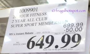 24 hour fitness 2 year all club super sport membership costco