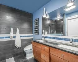 Blue Gray Bathroom Houzz