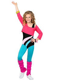 child 80 s workout girl costume